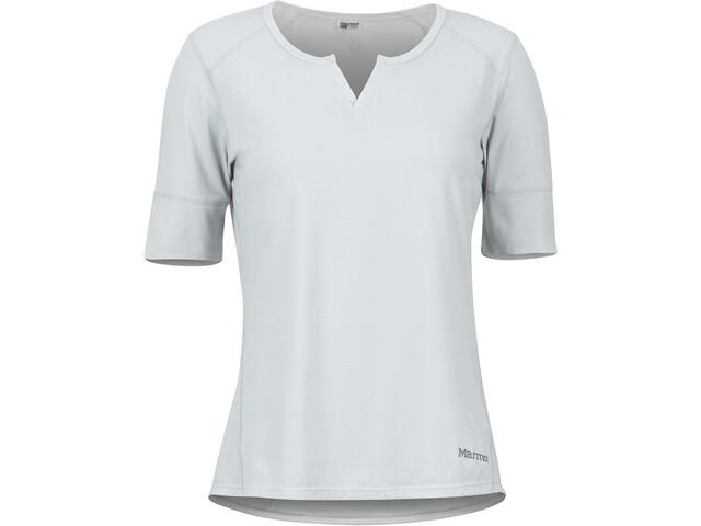 Marmot Cynthia Lyhythihainen T-paita Naiset, bright steel